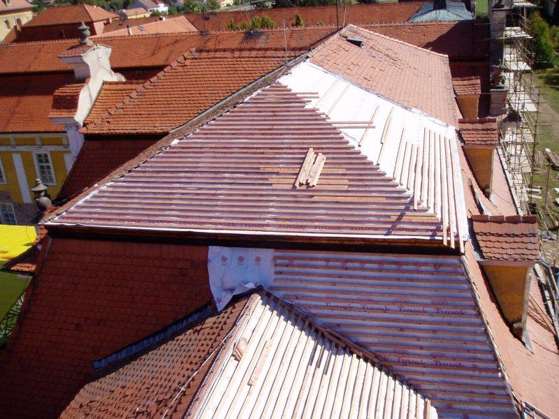 Rekonstrukce střech Kláštera Vincentinum na Velehradě