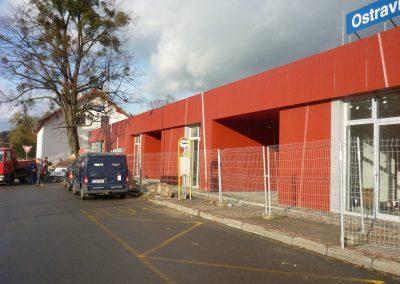 Fasáda železniční stanice Ostravice – revitalizace výpravní budovy