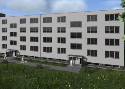 Revitalizace 2 panelových bytových domů, Dvorce